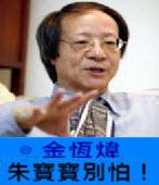 《金恆煒專欄》朱寶寶別怕!-台灣e新聞