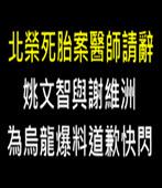 北榮死胎案醫師請辭 姚文智與謝維洲為烏龍爆料道歉快閃  - 台灣e新聞