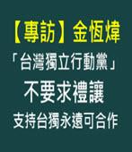 【專訪】「台灣獨立行動黨」不要求禮讓 金恆煒:支持台獨永遠可合作 - 台灣e新聞