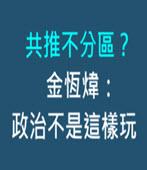 共推不分區? 金恆煒:政治不是這樣玩 - 台灣e新聞