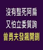 沒有整死阿扁又怕立委質詢  曾勇夫發飆開鍘 - 台灣e新聞