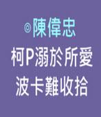 焦點評論:柯P溺於所愛 波卡難收拾-◎陳偉忠 -台灣e新聞