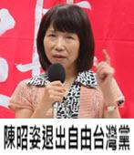 陳昭姿退出自由台灣黨:「平反扁案」未如承諾列為選戰主軸 -台灣e新聞