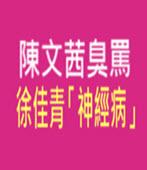 陳文茜臭罵徐佳青「神經病」-台灣e新聞