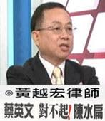 蔡英文 對不起 ! 陳水扁-◎黃越宏 -台灣e新聞