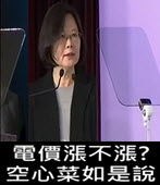 電價漲不漲? 空心菜如是說 - 台灣e新聞