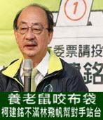 養老鼠咬布袋 柯建銘不滿林飛帆幫對手站台 - 台灣e新聞
