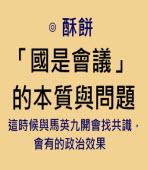 國是會議的本質與問題 -◎酥餅 -台灣e新聞