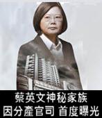 因分產官司 蔡英文神秘家族首度曝光- 台灣e新聞