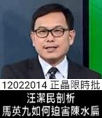 汪潔民剖析 馬英九如何迫害陳水扁 -台灣e新聞