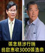 張念慈涉行賄,翁啟惠收3000張浩鼎 -台灣e新聞