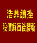 浩鼎續挫 股價解盲後腰斬 -台灣e新聞