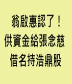 翁啟惠認了!供資金給張念慈 借名持浩鼎股 -台灣e新聞