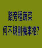 路旁種蔬菜 何不規劃機車格?-台灣e新聞