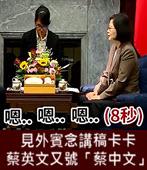 見外賓念講稿卡卡 蔡英文又號「蔡中文」- 台灣e新聞