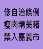 修自治條例 瘦肉精美豬 禁入嘉義市- 台灣e新聞