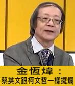 鷹派抬頭!金恆煒:蔡英文跟柯文哲一樣擺爛- 台灣e新聞