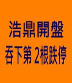 浩鼎開盤吞下第 2根跌停 -台灣e新聞