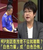 柯P測謊查洩密不從就離職? 議員批「白色力量」成「白色恐怖」- 台灣e新聞