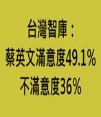 台灣智庫:蔡英文滿意度49.1%、不滿意度36%-台灣e新聞