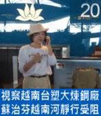 視察越南台塑大煉鋼廠 蘇治芬越南「河靜」行受阻「脫困」-台灣e新聞