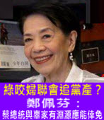 綠咬婦聯會追黨產? 鄭佩芬:蔡總統與辜家有淵源應能倖免 -台灣e新聞