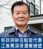 蔡政府新任駐星代表 江春男深夜酒駕被逮-台灣e新聞