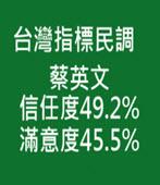 台灣指標民調 蔡英文信任度49.2% 滿意度45.5%/林全施政表現37.3%滿意、40.4%不滿意-台灣e新聞