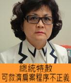 洪英花:總統特赦 可救濟扁案程序不正義-台灣e新聞