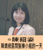 陳總統民間醫療小組的一天- ◎陳昭姿- 台灣e新聞
