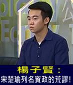 楊子賢 : 宋楚瑜列名資政的荒謬! -台灣e新聞