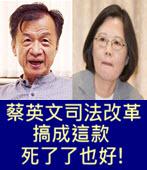 蔡英文司法改革搞成這款 死了了也好 !- 台灣e新聞