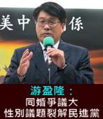 同婚爭議大 游盈隆:性別議題裂解民進黨 -台灣e新聞