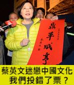 蔡英文迷戀中國文化,我們投錯了票?-台灣e新聞