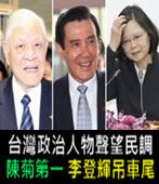 最新政治人物聲望民調 陳菊勇奪第一 李登輝慘吊車尾 -台灣e新聞