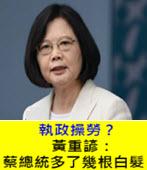 執政操勞?黃重諺:蔡總統多了幾根白髮-台灣e新聞