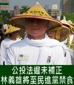 公投法遲未補正 林義雄「人民作主」將至民進黨禁食- 台灣e新聞