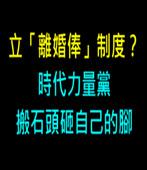 立「離婚俸」制度?時代力量黨搬石頭砸自己的腳 -台灣e新聞