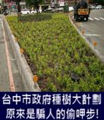 台中市政府種樹大計劃原來是騙人的偷呷步! -台灣e新聞