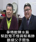 爭特赦陳水扁 蔡啟芳不惜與蔡易餘斷絕父子關係-台灣e新聞