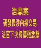 浩鼎案研發長涉內線交易 法官下次將傳張念慈-台灣e新聞