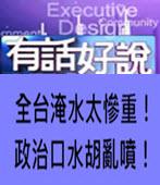 [有話好說]全台淹水太慘重!政治口水胡亂噴!-台灣e新聞