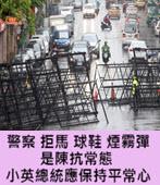 警察、拒馬、球鞋、煙霧彈是陳抗常態 小英總統應保持平常心-台灣e新聞