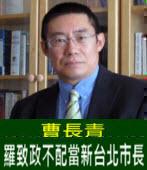 曹長青:羅致政不配當新台北市長 - 台灣e新聞