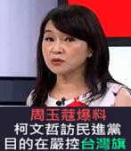 周玉蔻爆料柯文哲訪民進黨目的在嚴控台灣旗-台灣e新聞