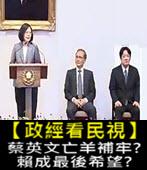20170905【政經看民視】蔡英文亡羊補牢? 賴成最後希望? -台灣e新聞