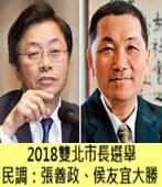 2018雙北市長選舉 民調:張善政、侯友宜大勝 -台灣e新聞