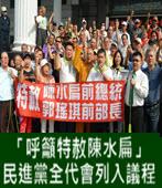 「呼籲特赦陳水扁」 民進黨全代會列入議程-台灣e新聞