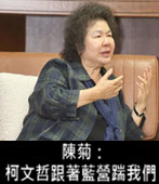 陳菊:柯文哲跟著藍營踹我們 - 台灣e新聞