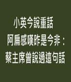 小英今說重話 阿扁感嘆昨是今非:蔡主席曾說過這句話 -台灣e新聞